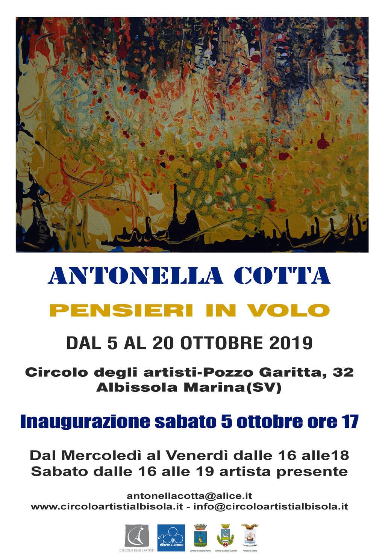 """""""Pensieri in volo"""" mostra d'arte Antonella Cotta Albissola Marina"""