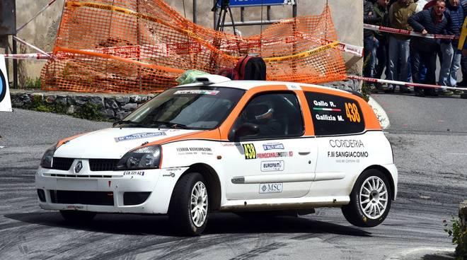 Riccardo Gallo in gara al Rally di Casciana Terme