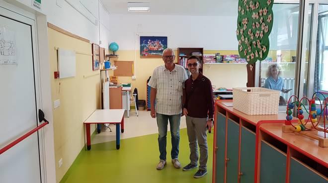 Rinnovate le pavimentazioni del nido d'infanzia comunale di Loano