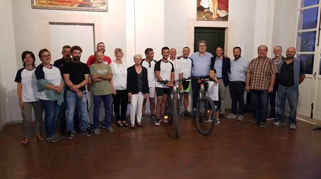 Sentiero 2M, giunta a Loano la delegazione di Montaldo di Mondovì
