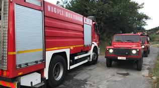 vigili del fuoco Vvff incendio cenesi