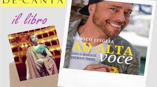 """Albenga, Il tenore Enrico Iviglia presenta il libro """"Ad alta voce"""""""