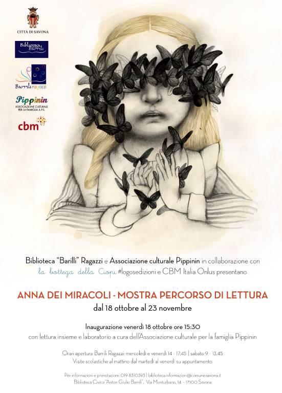 """""""Anna dei miracoli"""" mostra e letture Biblioteca Barrili Savona"""