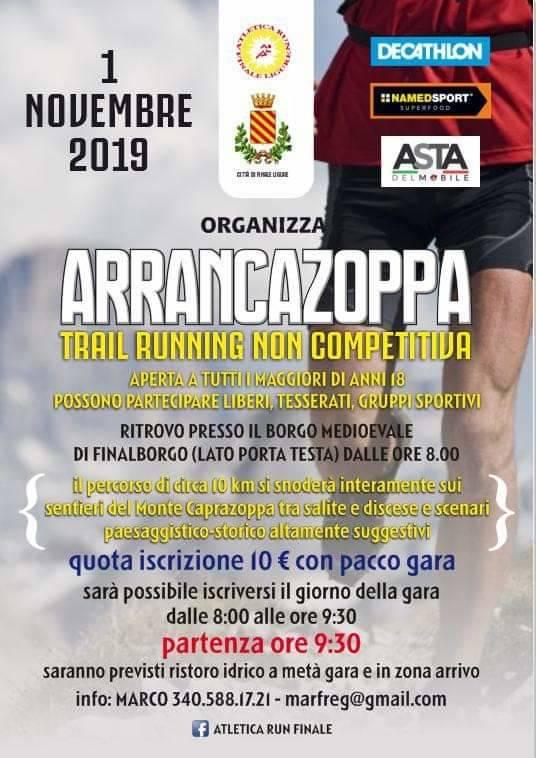 Arrancazoppa 2019 Finale Ligure trail running