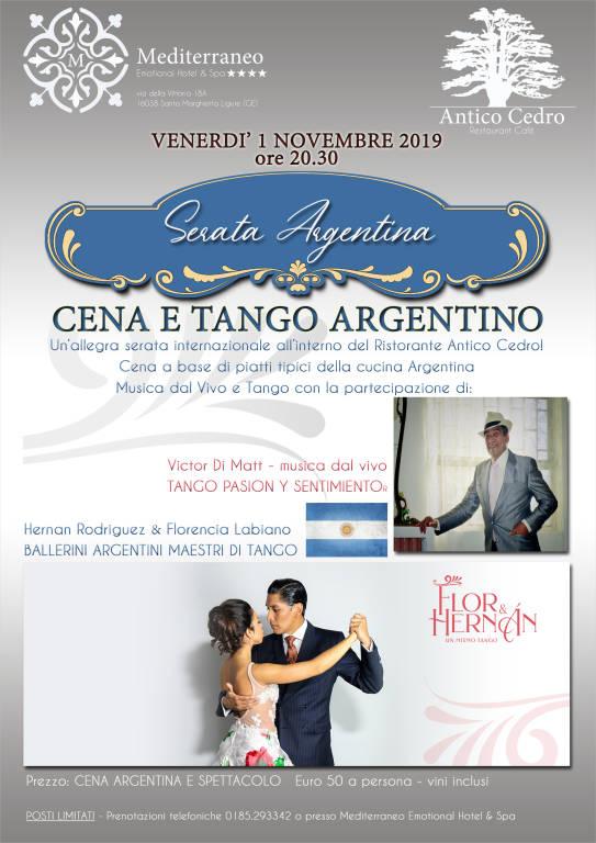 Serata Argentina - Cena con spettacolo dal Vivo