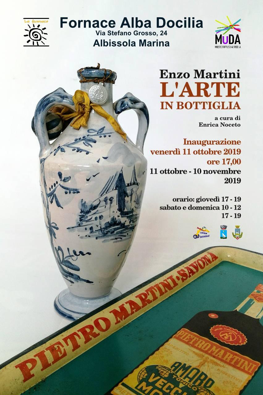"""""""Enzo Martini - L'arte in bottiglia"""" mostra ceramiche Albissola Marina"""