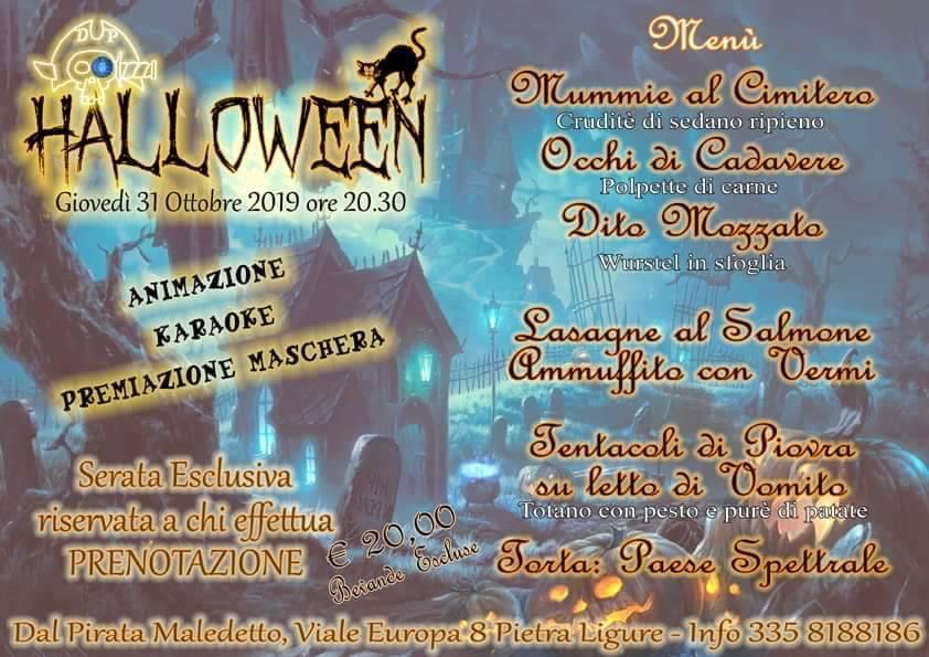 Halloween Party 2019 Pietra Ligure Pirata Maledetto