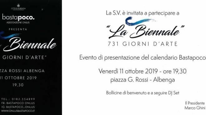 """""""La Biennale 731 giorni d'arte"""" calendario Bastapoco Albenga"""