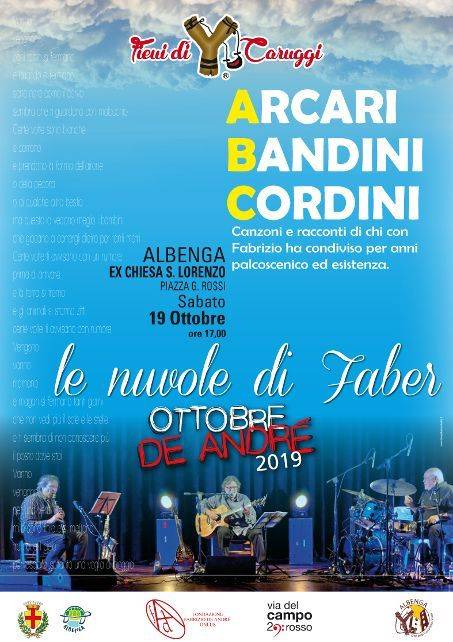 """""""Le nuvole di Faber"""" concerto Mario Arcari, Giorgio Cordini, Ellade Bandini Albenga"""