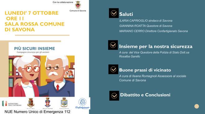 "Savona, torna ""Più sicuri insieme"": la campagna anti truffe di Confartigianato"