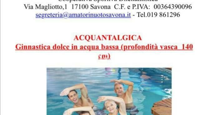 Acquantalgica : ginnastica dolce in acqua bassa all\'Amatori Nuoto Savona