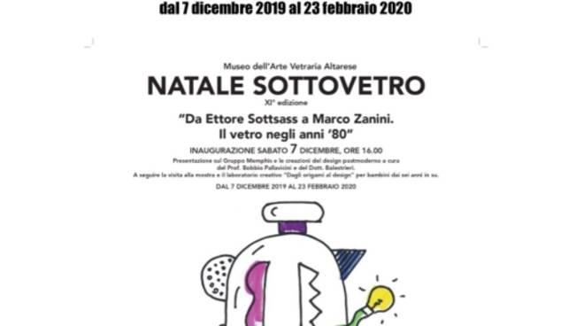 """""""Da Ettore Sottsass a Marco Zanini. Il vetro negli anni '80"""" mostra Altare"""