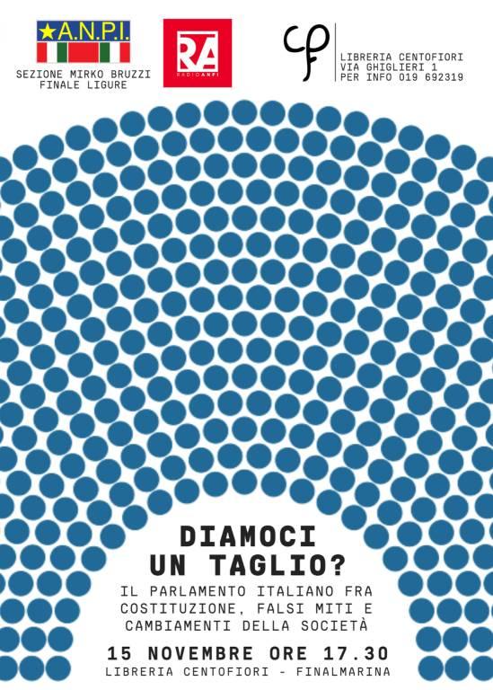 """""""Diamoci un taglio?"""" incontro sul Parlamento italiano Finale Ligure"""