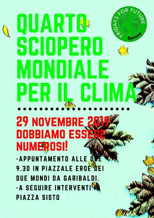 Fridays For Future Marcia per il Clima Savona novembre 2019