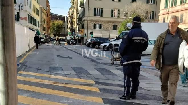 Nuova segnaletica Piazza Giulio II Savona