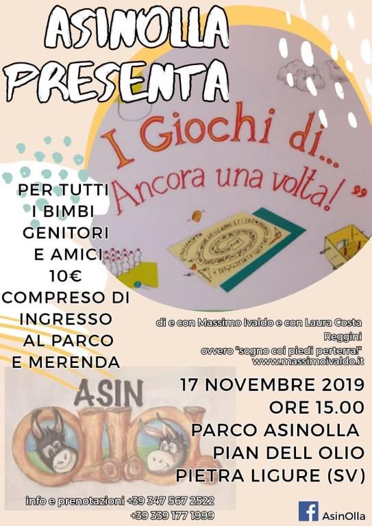 """""""I giochi di... Ancora una volta"""" spettacolo Parco AsinOlla Pietra Ligure"""