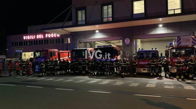 I vigili del fuoco commemorano le tre vittime di Alessandria