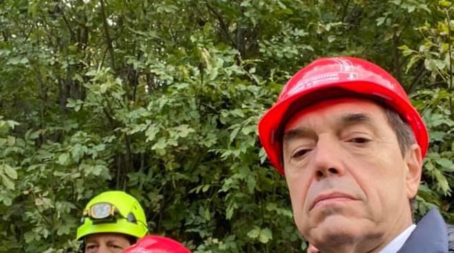 Il ministro alle Infrastrutture De Micheli nel savonese
