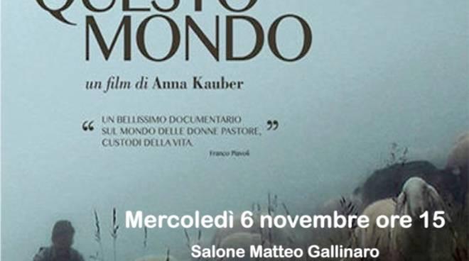 """In questo mondo"" docufilm Anna Kauber donne pastore Albenga"