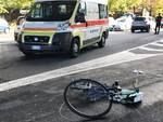 incidente ciclista albenga