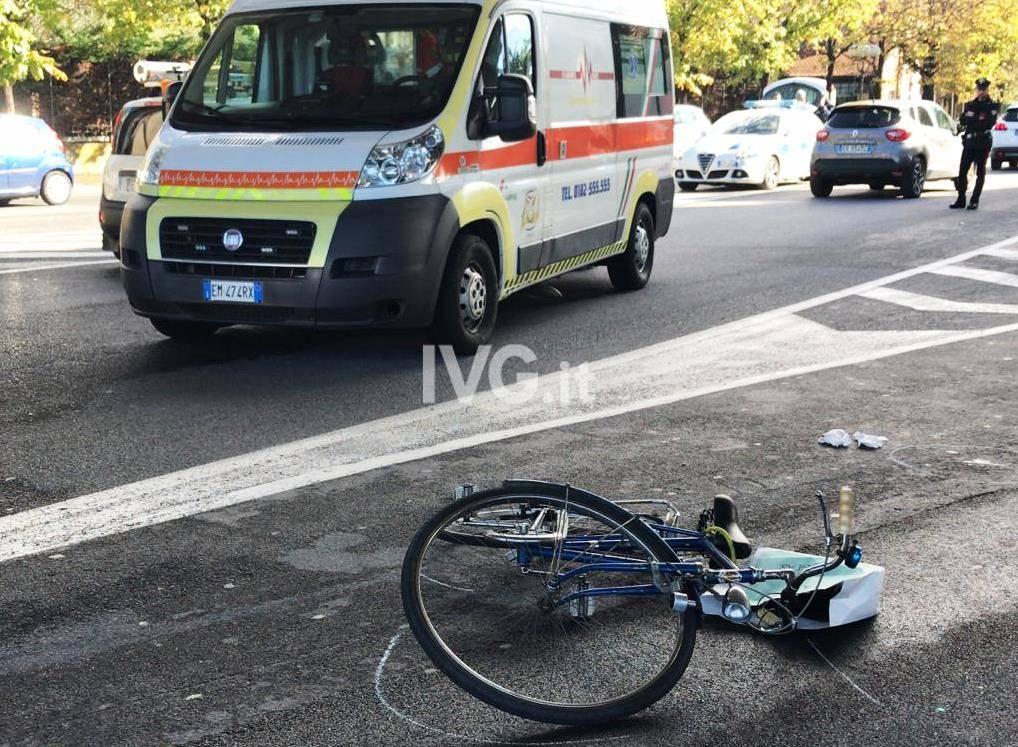 incidente ciclista albenga