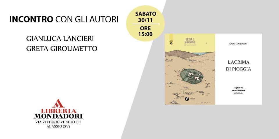 Incontro scrittori Gianluca Lancieri e Greta Girolimetto Alassio