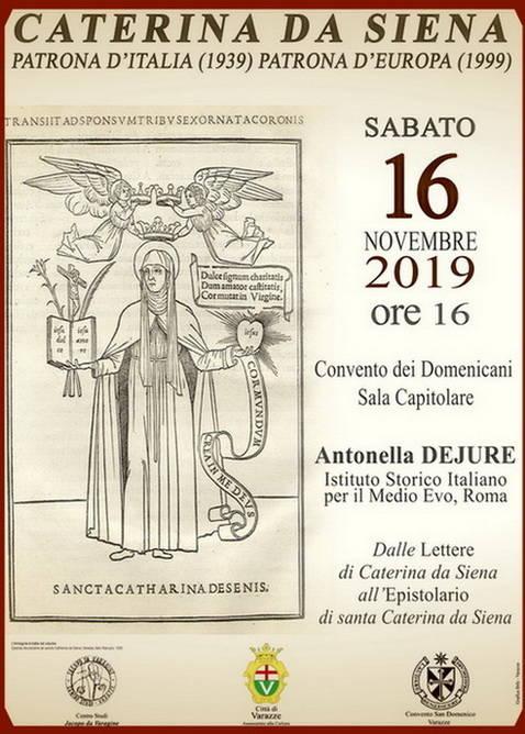 Incontro Varazze su santa Caterina da Siena