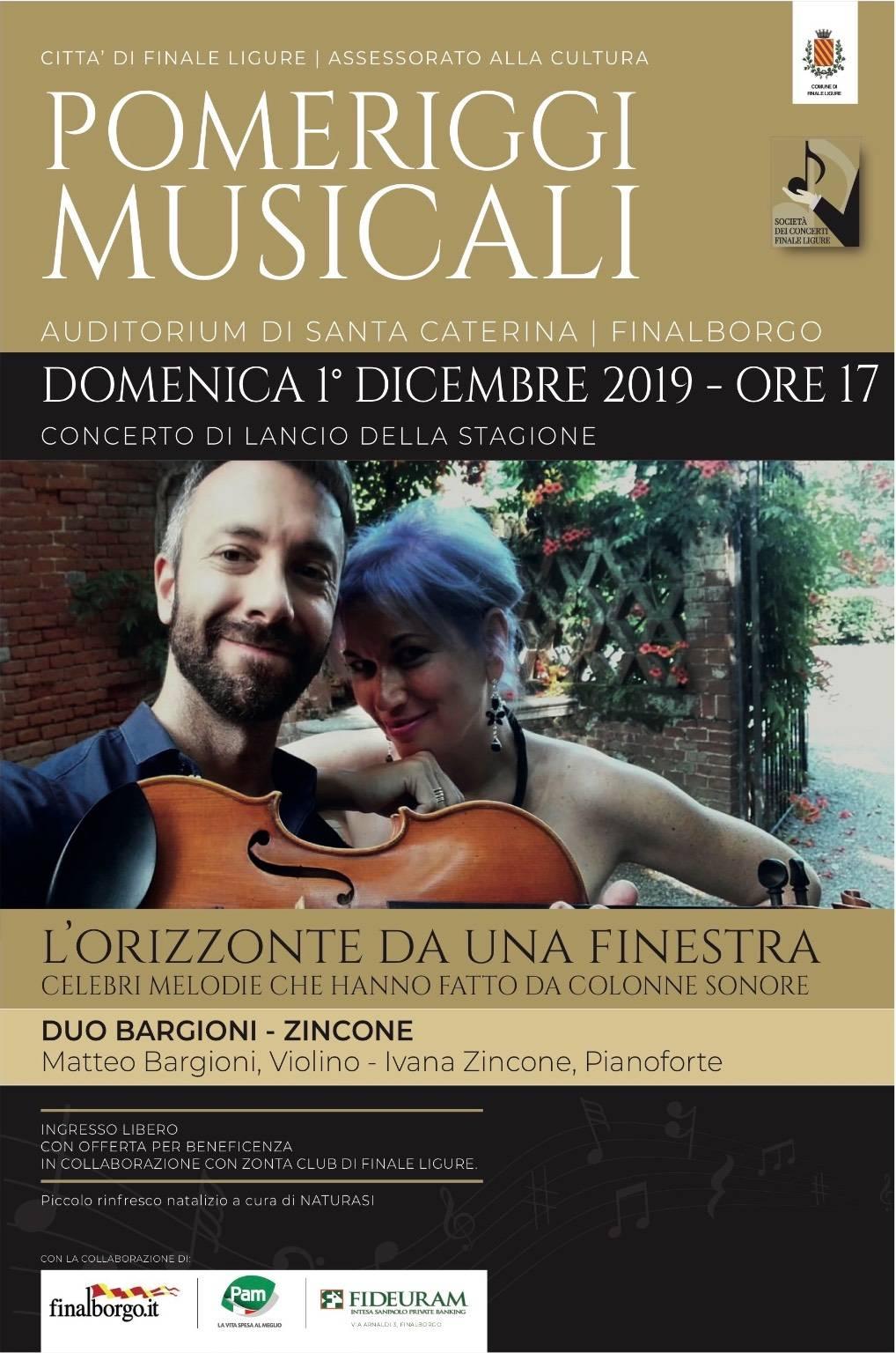 """""""L'orizzonte da una finestra"""" concerto Finale Ligure"""