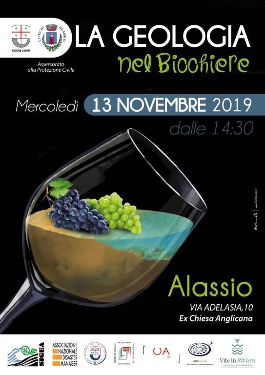 """""""La geologia nel bicchiere"""" convegno Alassio novembre 2019"""