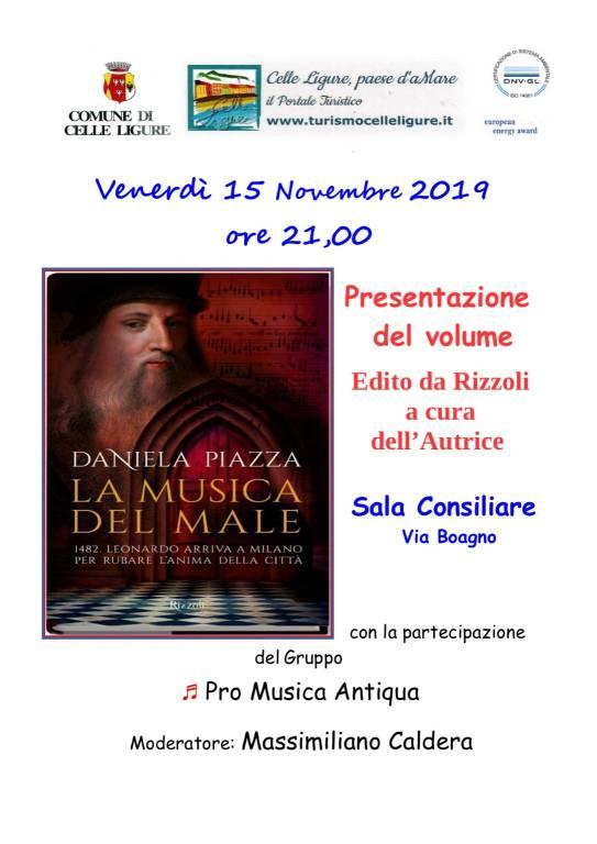 """""""La musica del male"""" libro Daniela Piazza Celle Ligure"""