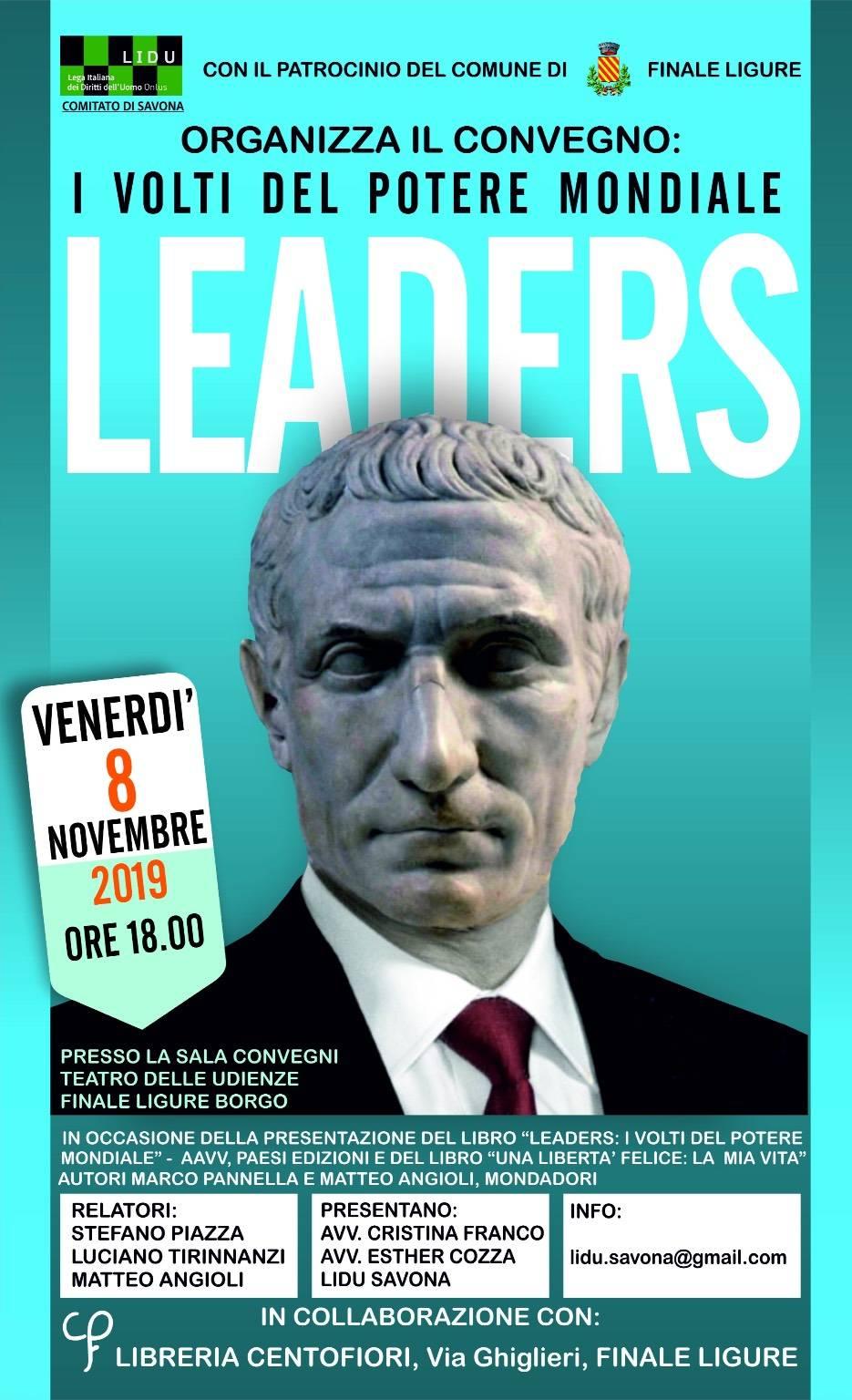 """""""Leaders. I volti del potere mondiale"""" convegno Finale Ligure"""