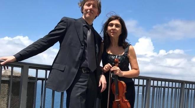Manuela Matis violinista e Alberto Magagni pianista