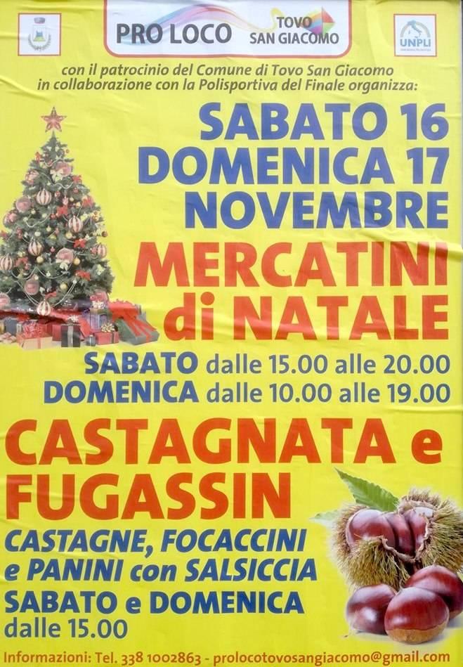 Mercatini di Natale - Castagnata e Fugassin 2019 Tovo San Giacomo