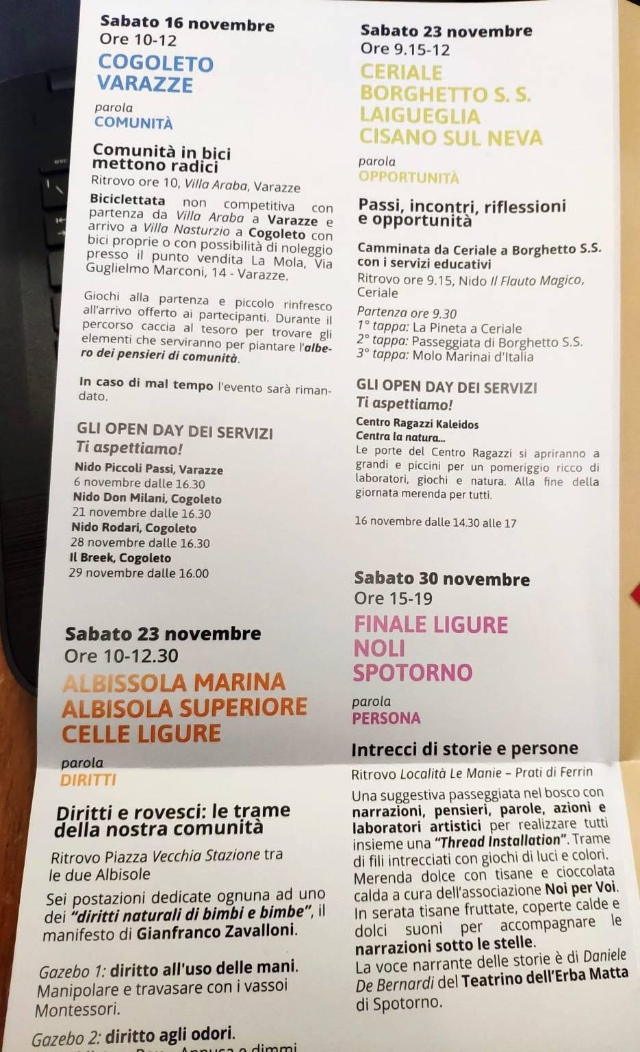 Progetto Città Savona 30 anni attività inverno 2019