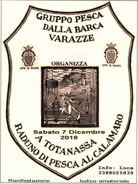 Raduno Pesca calamaro e cefalopodi - Trofeo Totanassa Varazze 7 dicembre 2019