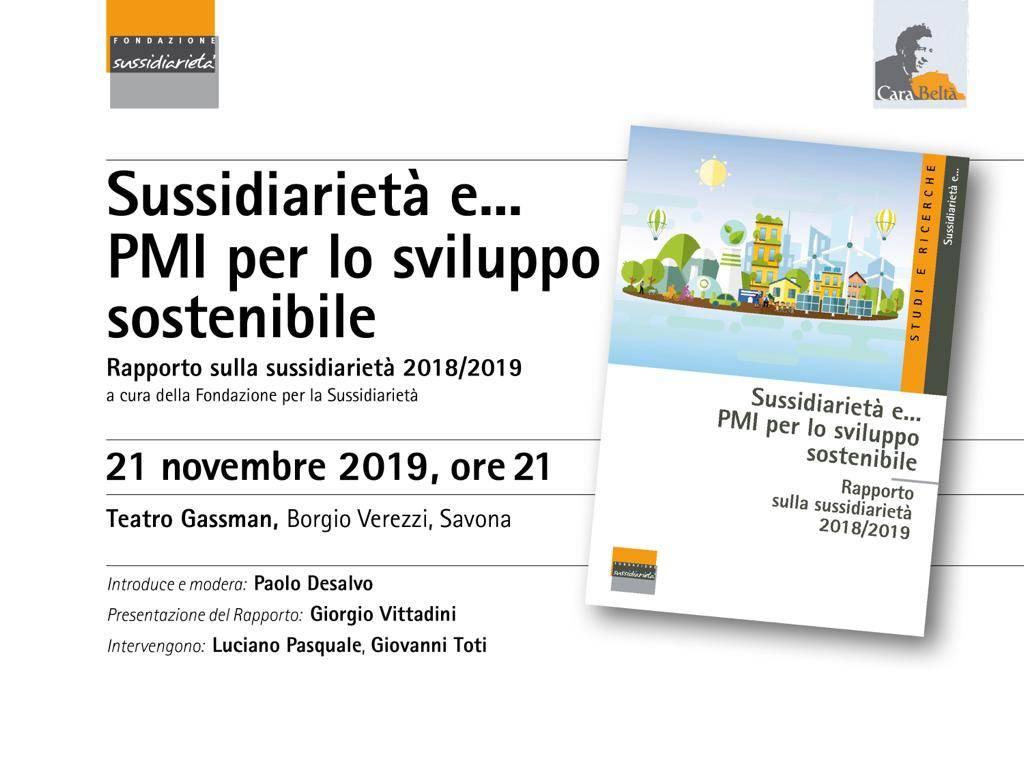 Rapporto sussidiarietà, incontro a Borgio Verezzi