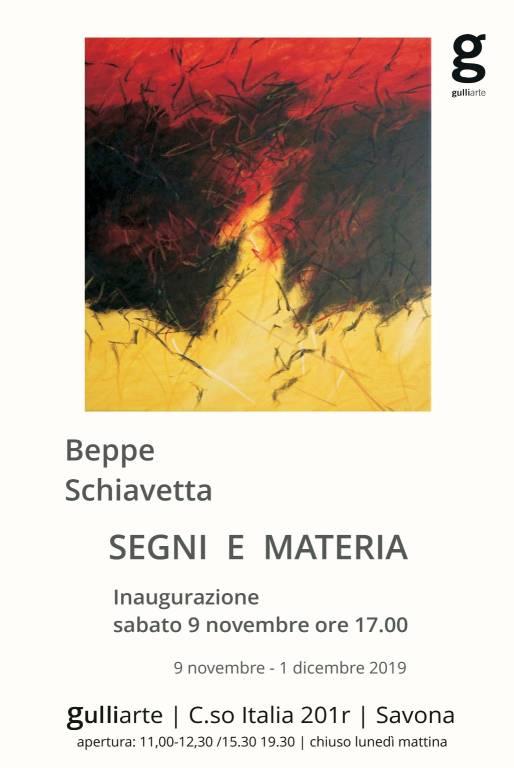 """Segni e Materia"" mostra d'arte Beppe Schiavetta Savona"