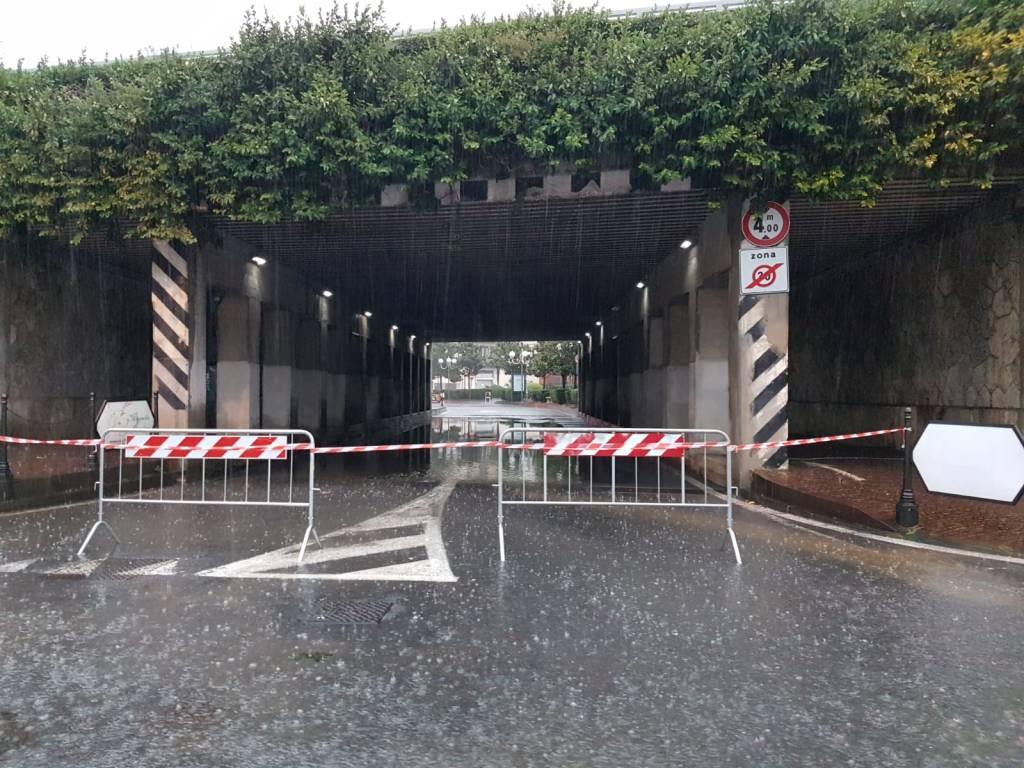 Sottopasso Albenga allagato