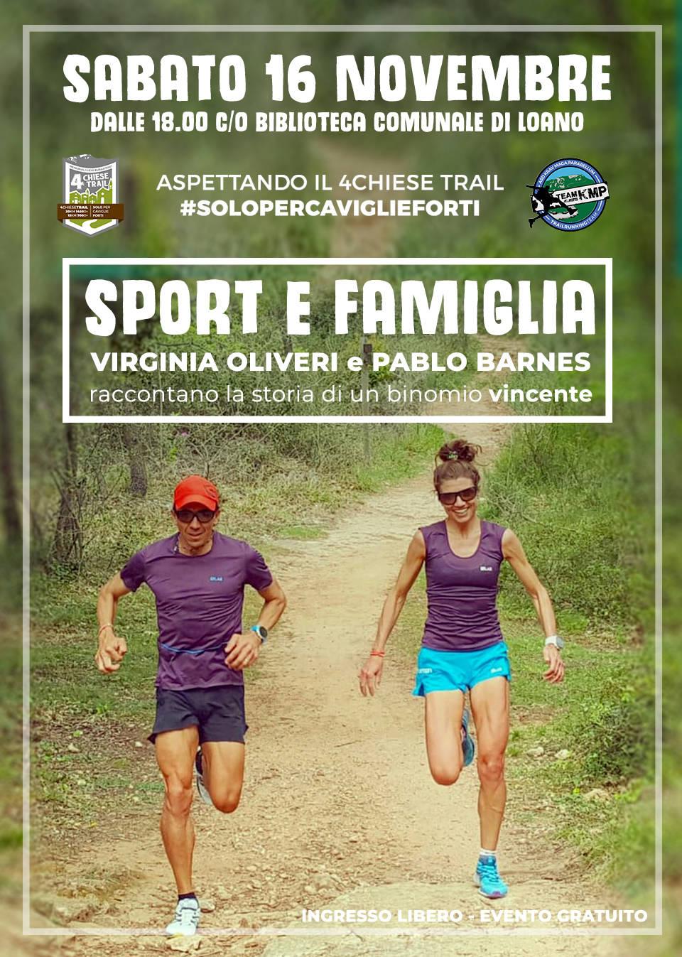 """""""Sport e Famiglia"""" conferenza Virginia Oliveri e Pablo Barnes Loano"""