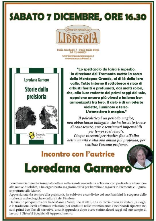 """""""Storie dalla preistoria"""" racconti Loredana Garnero Finale Ligure"""