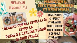 Trekking asini AsinOlla e pranzo Cascina Porro 2019 Pietra Ligure