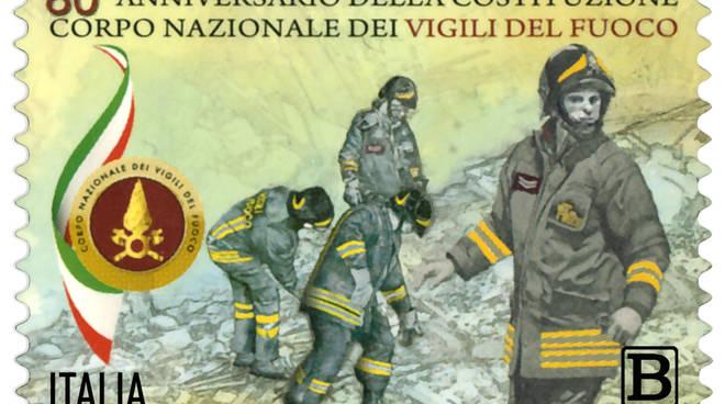 Virgo fidelis, vigili del fuoco, poste italiane francobolli