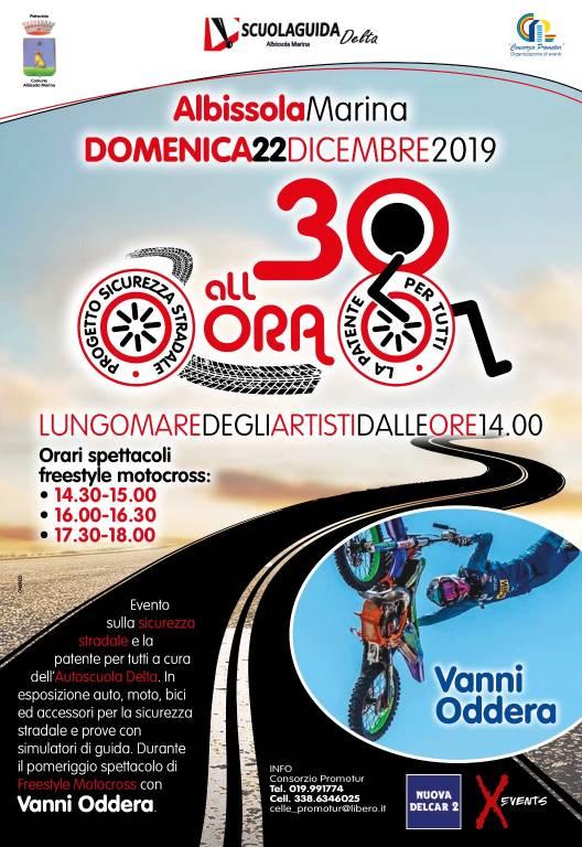 """""""30 all'ora"""" sicurezza stradale Albissola Marina dicembre 2019"""