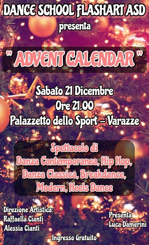 """Advent Calendar"" spettacolo Natale Dance School Flashart Varazze"