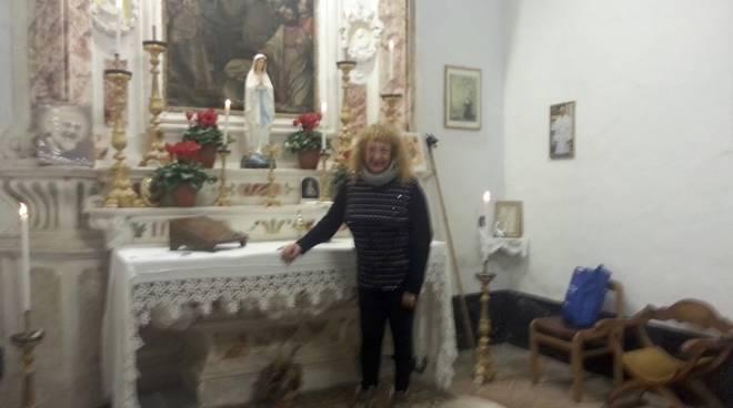 Agostina Pizzo Albino nella Cappella del Carmine Bastia d'Albenga