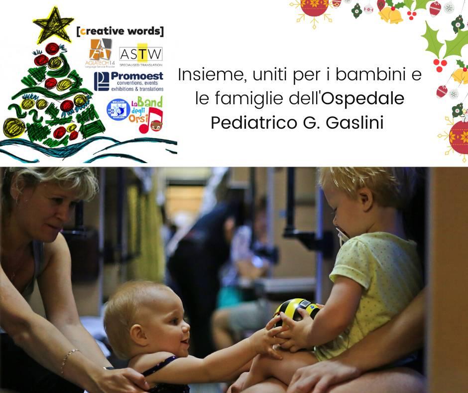 Le Agenzie di traduzione del territorio unite per i bambini e le famiglie dell'Ospedale Pediatrico Gaslini
