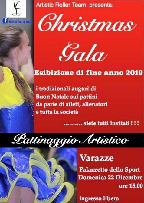 """""""Christmas Gala"""" spettacolo pattini ghiaccio Artistic Roller Team Varazze"""