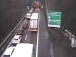 coda in autostrada da webcam