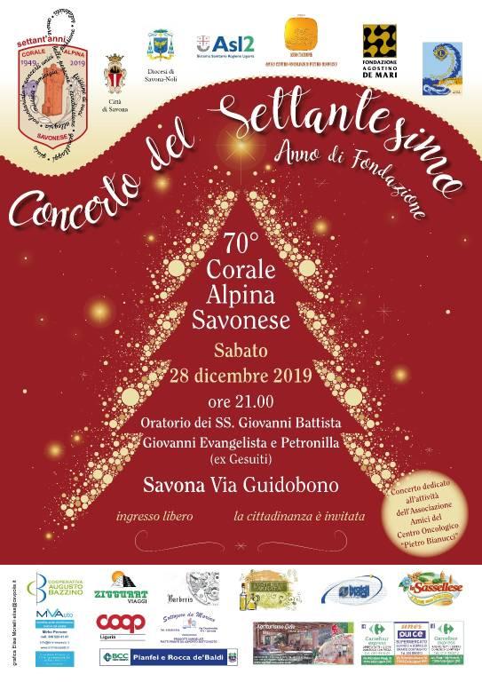 Concerto 70 anni Corale Alpina Savonese