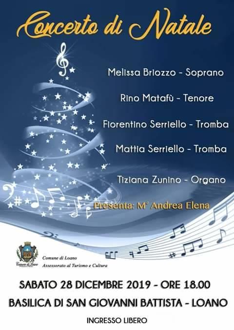 Concerto di Natale 2019 Loano Oratorio San Giovanni Battista